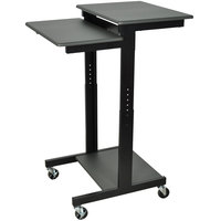 Luxor / H. Wilson Prestige PS3945 Mobile Computer Workstation 24 inch x 31 inch - Adjustable Height
