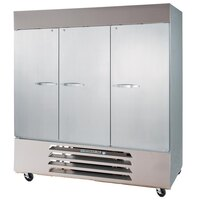Beverage Air (Bev Air) HBR72-1 Three Door Reach In Refrigerator - 72 Cu. Ft.