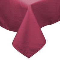 64 inch x 110 inch Mauve 100% Polyester Hemmed Cloth Table Cover