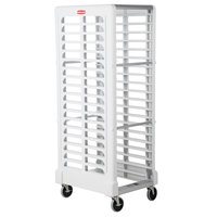 Rubbermaid 3320 18 Pan End Load Max System White Bun / Sheet Pan Rack -Unassembled (FG332000WHT)