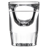 Libbey 5135/S0617 1.25 oz. Fluted Whiskey / Shot Glass with .5 oz. Cap Line - 12/Pack