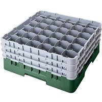 Cambro 36S1214119 Sherwood Green Camrack 36 Compartment 12 5/8 inch Glass Rack