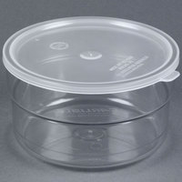 Carlisle 036507 1.5 Qt. Clear Supreme Crock with Lid - 6/Case