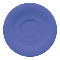 GET SU-2-PB Diamond Mardi Gras 5 1/2 inch Peacock Blue Melamine Saucer for GET C-108, TM-1308, and TM-1208 Mugs - 48/Case