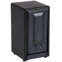 Vollrath 5500-06 Two Sided Vertical Tallfold Napkin Dispenser - Black