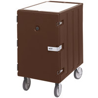 Cambro 1826LBCSP131 Camcart Dark Brown Single Compartment Mobile Cart for 18 inch x 26 inch Food Storage Boxes - With Security Package
