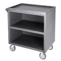 Cambro BC330191 Granite Gray Three Shelf Service Cart with Three Enclosed Sides - 33 1/8 inch x 20 inch x 34 5/8 inch