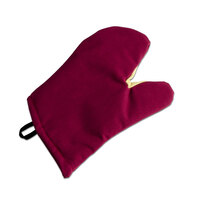 San Jamar KT0224 Cool Touch Flame Red Conventional Oven Mitt with Kevlar – 24 inch