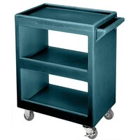 Cambro BC225192 Granite Green Three Shelf Service Cart - 28 inch x 16 inch x 32 1/4 inch