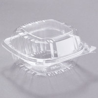 Dart C57PST1 6 inch x 5 13/16 inch x 3 inch ClearSeal Hinged Lid Plastic Container - 125/Pack