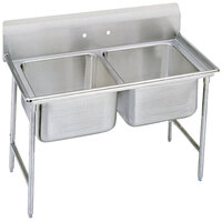 Advance Tabco 9-42-48 Super Saver Two Compartment Pot Sink - 60 inch