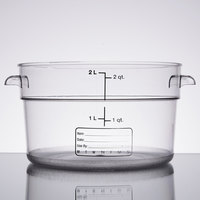 Carlisle 1076307 2 Qt.Clear Round StorPlus Container
