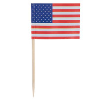 Royal Paper R827 2 1/2 inch American Flag Food Pick - 100 / Box