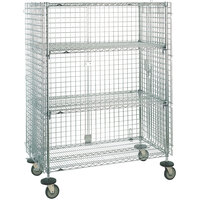 Metro SEC55LCQ Heavy Duty QwikSLOT Mobile Standard Duty Wire Security Cabinet 53 inch x 27 inch x 68 inch