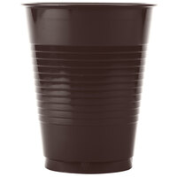 Creative Converting 28303881 16 oz. Chocolate Brown Plastic Cup - 20/Pack