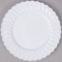 "Fineline Flairware 206-WH 6"" White Plastic Plate - 18/Pack"