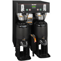 Bunn 34600.0001 Black BrewWISE Dual ThermoFresh DBC Brewer with Funnel Lock - 120/240V, 6600W