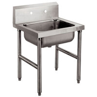 Advance Tabco 8-OP-16 Conventional Service Sink Leg Mounted - 24 inch