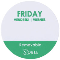Noble Products Friday 1 inch Removable Day of the Week Dot Label - 1000/Roll