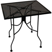 American Tables & Seating ALM3048 30 inch x 48 inch Rectangular Top Outdoor Table with Umbrella Hole