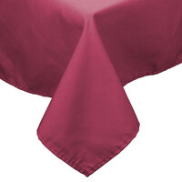 72 inch x 120 inch Mauve 100% Polyester Hemmed Cloth Table Cover