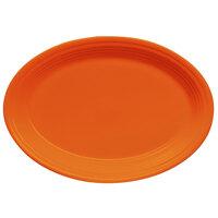Homer Laughlin 456325 Fiesta Tangerine 9 5/8 inch Platter - 12 / Case
