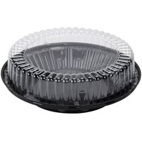 D&W Fine Pack J45 10 inch Black Pie Take Out Container with Clear High Dome Lid - 20 / Pack