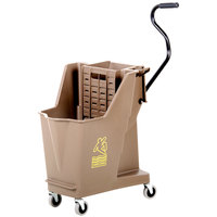 Continental 351BZ 35 Qt. Bronze Unibody Mop Bucket with Built-In Wringer