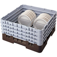 Cambro CRP141012167 Brown Full Size PlateSafe Camrack 10 1/2-12 1/2 inch