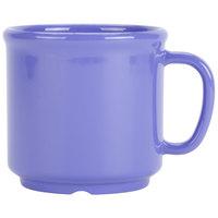 GET S-12-PB 12 oz. Peacock Blue SAN Plastic Mug - 24 / CS