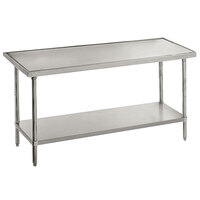 14 Gauge Advance Tabco VSS-365 36 inch x 60 inch Stainless Steel Work Table with Stainless Steel Undershelf