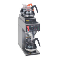 Bunn CWTF20-3 Automatic 12 Cup Coffee Brewer with 2 Upper and 1 Lower Warmer - Stainless Steel Funnel 120V (Bunn 12950.0283)