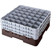 Cambro 36S1058167 Brown Camrack 36 Compartment 11 inch Glass Rack