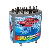 Gray Avalanche II 4030 Mobile 90 qt. Cooler Merchandiser