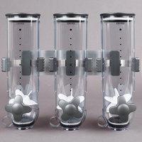 Zevro KCH-06139 SmartSpace Wall Mount Triple Canister Dry Food Dispenser