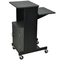 Luxor / H. Wilson PS4000C Mobile Presentation Stand with Locking Cabinet