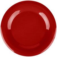 Carlisle 3302405 12 inch Red Sierrus Wide Rim Plate - 12/Case