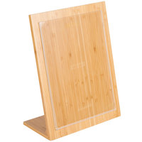 Cal-Mil 1103-811-12 Bamboo Framed Card Holder - 8 1/2 inch x 11 inch