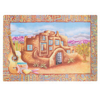 Hoffmaster 310980 10 inch x 14 inch Hacienda II Paper Placemat - 1000/Case
