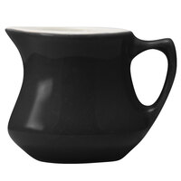 Hall China 30195W101 Black 3.5 oz. Empire Creamer 24 / Case