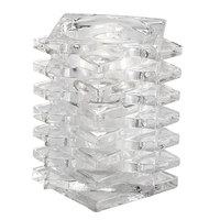 Sterno Products 80162 4 1/4 inch Marquee Clear Glass Square Liquid Candle Holder