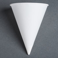Dart Solo 6R-2050 Bare Eco-Forward 6 oz. White Rolled Rim Paper Cone Cup with Chipboard Box Packaging - 5000 / Case