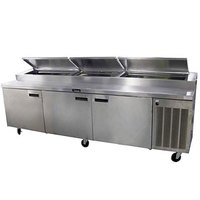 Delfield 186114PTBM 114 inch Three Door Refrigerated Pizza Prep Table