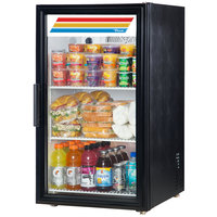 True GDM-6-LD Black Countertop Display Refrigerator with Swing Door - 6 cu. ft.