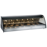 Alto-Shaam TY2-96/PL SS Stainless Steel Countertop Heated Display Case with Curved Glass - Left Self Service 96 inch