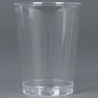 Fineline Savvi Serve 410-CL 10 oz. Tall Clear Hard Plastic Tumbler - 500/Case