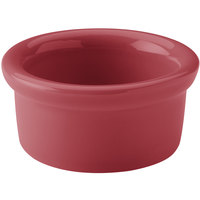 Hall China 30363326 Scarlet 3.5 oz. Colorations Round China Ramekin - 36/Case