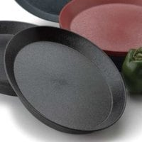 HS Inc. HS1056 12 inch Charcoal Polypropylene Round Deli Server - 24/Case