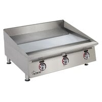 Star 872TSCHSA Ultra Max 72 inch Countertop Gas Griddle with Snap Action Thermostatic Controls and Chrome Plate - 240,000 BTU