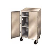 Winholt OTE-78 Beige Steel Enclosed Receiving / Shop Desk with Lockable Doors